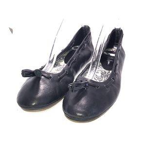 Cole Haan black leather ballet  tassel flats 7